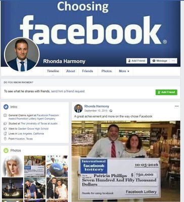 Scam Survivors • Fake Facebook profiles used in lottery scams