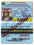normal lizzy justin Refugee ID Card