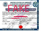 U.S CUSTOMS CLEARANCE CERTIFICATE