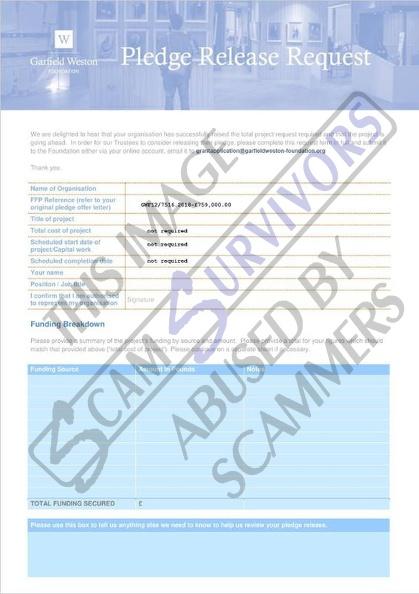 Scam Survivors • grant@garfieldweston-foundation org