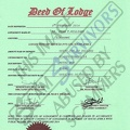 Fake Deed of Lodge document