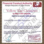 Fake Yellow Tag Clearance