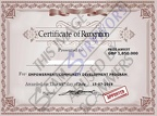 Fake Certificate of Recognition