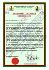 Fake Authority Transfer Certificate