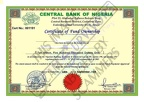 Fake Certificate of Fund Ownership