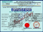 Fake Certificate of Deposit