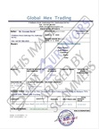 Fake Invoice Global Mex Trading